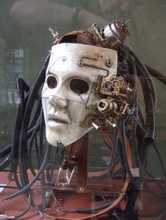 Steam punk mask Moody menacing and strangely alive. Steampunk android? Steampunk…