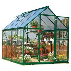 Nature Greenhouse - Forest Green - Palram