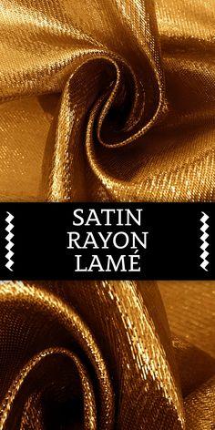 Satin Rayon Lamé in Gold
