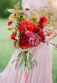 Red gold bouquet