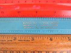Vintage Rulers, Set of Three Plastic and Wood, Advertising Ruler, School Rulers by FoxLaneVintage on Etsy Eclectic Decor, Shopping Center, Ruler, Advertising, Decor Ideas, Plastic, School, Unique Jewelry, Wood