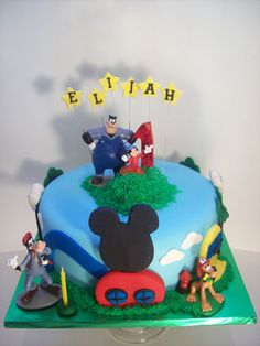 Mickey Clubhouse cake Auckland $250 (figurines bought from a licensed retailer)