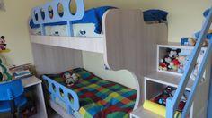 Κρεβάτι-κουκέτα και γραφείο σε χρώμα δρυς από Laminate Egger έπιπλα Καφρίτσας Αρης Bunk Beds, Toddler Bed, Furniture, Home Decor, Child Bed, Decoration Home, Double Bunk Beds, Room Decor, Home Furnishings