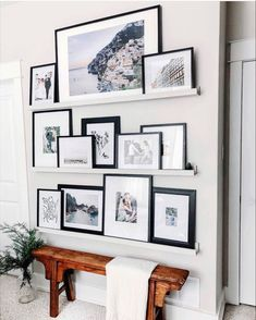 Perhaps on wall between kitchen & dining instead of a grid Decor, Home Decor Inspiration, Wall Decor, Picture Ledge, Gallery Wall, Home Decor, Apartment Decor, Gallery Shelves, Living Decor
