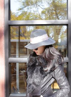 Eugenia Kim Women's GEORGINA Graphite Wide-Brim Fedora Hat