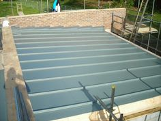 grey fiberglass roof - Google Search Fibreglass Roof, Deck, Home And Garden, Flat, Contemporary, Google Search, Grey, Outdoor Decor, House