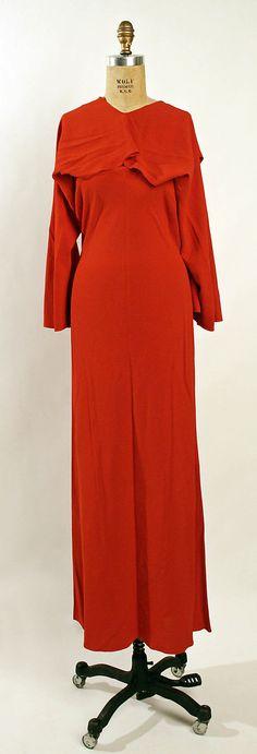 Evening dress Madeleine Vionnet  Date: ca. 1936 Culture: French Medium: silk Accession Number: 1978.278.3a, b