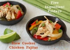 Five Ingredient Friday: Slow Cooker Chicken Fajitas - Living Low Carb One Day At A Time