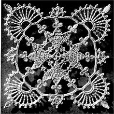 Vintage Lace Heart Bedspread Crochet Motif: free pattern