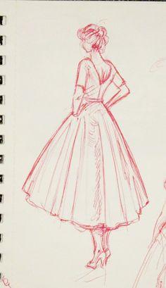 kelseypaigeart: Sketch dump from January 2015, drawn in pen