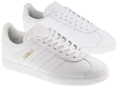 low cost b40d9 8ad37 Adidas Trainers Womens Gazelle White Leather  Landau Store Womens  Sneakers, Sneakers Fashion, Fashion