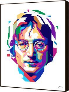 Curioos John Lennon In WPAP by Prayitno Widodo (Artblock)
