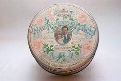 A souvenir celebrating one of the biggest British events of the twentieth century - the wedding of Princess Diana and Prince Charles. With a British Royal prince and princess in the spotlight again, this is a great collectible item.    The tin is in good condition and has great color. On the inside, there is a label for Callard & Bowser Toffee Selection.