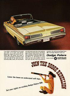 Dodge Polara 500 Convertible 1966 Rebellion - Mad Men Art: The 1891-1970 Vintage Advertisement Art Collection