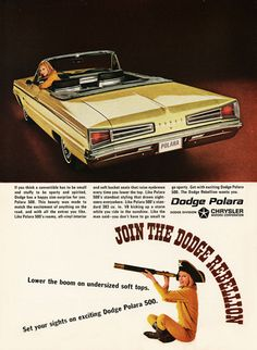 Dodge Polara 500 Convertible 1966 Rebellion - Mad Men Art: The 1891-1970 Vintage Advertisement Art Collection