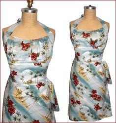 50's Hawaiian Love Song Dress