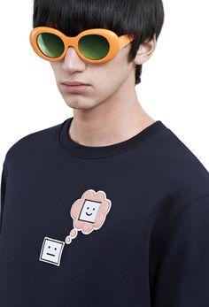 #AcneStudios Casey emoji sweatshirt from the emoji capsule collection