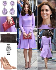 """6,716 Likes, 89 Comments - Catherine Duchess Of Cambridge (@katemidleton) on Instagram: """"For the final day of the Poland & Germany royal tour, The Duchess opted for a lavender dress by one…"""""""