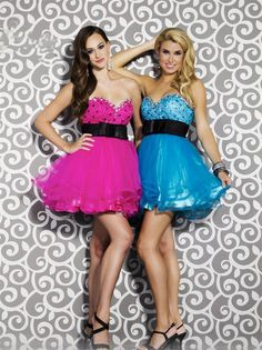 Sweetheart Short Blue Tulle A Line Homecoming/Cocktail Dress