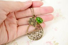 Antique Brass Owl Tree Necklace by KimFong on Etsy, $13.50