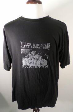 Cool Killer Mountain Mangna Parbat Pakistan Graphic T Shirt, Mens Size L-XL