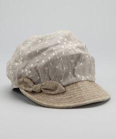 Take a look at this Natural Fernande Linen-Blend Cap by Grace Hats on #zulily today! $13.99