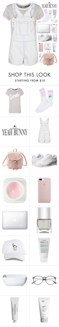 """YeahBunny 🐰💖🌹"" by novalikarida ❤ liked on Polyvore featuring Topshop, Charlotte Russe, adidas Originals, Erno Laszlo, Nails Inc., Korres, Threshold, Byredo, Boots No7 and Kate Somerville"