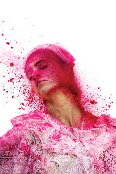 """""""Color Me Crazy"""" by Sarah St. Loveeee the reference to Holi. Powder Paint Photography, Color Photography, Portrait Photography, Photography Ideas, Mood Board Inspiration, Images Esthétiques, Holi Powder, Holi Festival Of Colours, I Believe In Pink"""