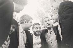 pre-wedding huddle for the groomsmen - I want a picture like this with both groups.