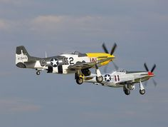 A pair of Mustangs departing from runway 18 at EAA Airventure,Oshkosh P51 Mustang, Mustangs, Planes, Fighter Jets, Aircraft, Runway, Racing, Boat, Pictures