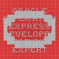 Oracle Application Express Developer Certified Expert