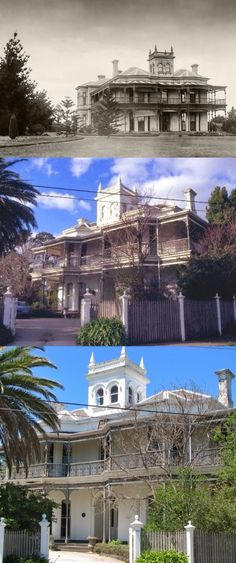 Chevy Chase, Brighton, and a sister residence Ratho (later Hiawatha) were erected by two business partners. Built in 1881 Chevy Chase now stands on an area of land much reduced from its original estate. The house features a two storey cast-iron verandah on the north-west and south faces of the building reflecting the form of the two bay windows on the west facade. The house is otherwise dominated by a three storey tower with parapet balustrading and urns intact at each corner.