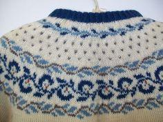 Foldal Vintage Hand Knit Norwegian Wool Cardigan Sweater Handknit Norway | eBay