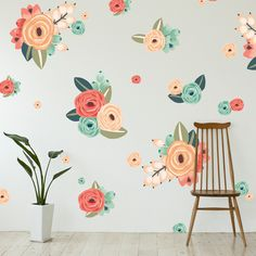 Graphic Flower Cluster Wall Decals – Shop Project Nursery