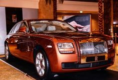 Setting the tone - On arrival, invited guests were welcomed to a grand display of a Rolls-Royce Ghost 1001 Nights Bespoke Edition. Abu Dhabi, Rolls Royce, Bespoke, Trucks, Display, Cars, Luxury, Awesome, Vehicles