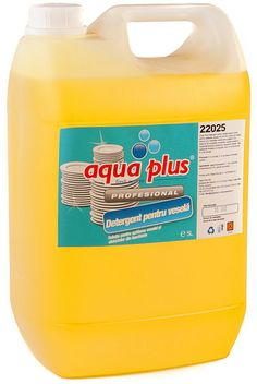 Aqua Plus detergent concentrat pentru vesela cu aroma de lamaie, delicat cu pielea mainilor.