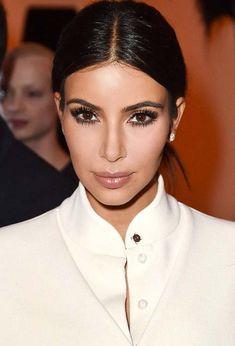 20 Stylish Ways to Wear Center Part Hairstyles: Kim Kardashian  #hairstyles #hair