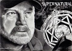 Jim Beaver 01 by aurelia-acc on DeviantArt Supernatural Drawings, Supernatural Fan Art, Bobby Singer Supernatural, Jim Beaver, Winchester Boys, Tv Show Quotes, Angels And Demons, Destiel, Pictures To Draw