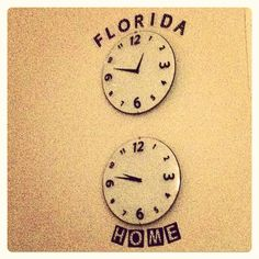 Cute dorm room idea to help with gaps in the time zones.