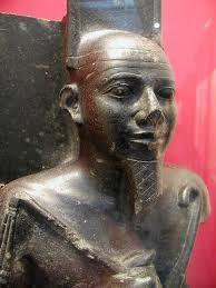 King Taharqa, Pharaoh of all Ancient Egypt and Kush during the 25th Dynasty, 690-664 BC. One of the 'Black Pharaohs'.