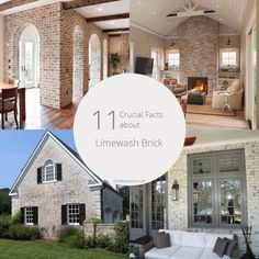 11 crucial facts about limewash brick White Wash Brick Exterior, House Paint Exterior, Exterior Design, Exterior Siding, Modern Exterior, Home Exterior Makeover, Exterior Remodel, Red Brick Exteriors, Brick Cottage