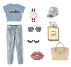 """""""Untitled #20"""" by laura-estrada-costa on Polyvore featuring Daniel Wellington, Ray-Ban, '47 Brand, Lime Crime and Furla"""