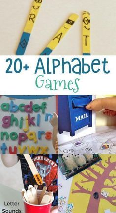 Over 20 Games to help your children learn their ABC& Kids Alphabet Games! Over 20 Games to help your children learn their ABCs! Alphabet Games For Kindergarten, Teaching The Alphabet, Alphabet For Kids, Learning Letters, Literacy Activities, Kids Learning, Preschool Alphabet, Early Learning, Rhyming Preschool