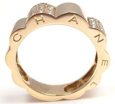 Chanel Diamonds Yellow Gold Band Ring image 2