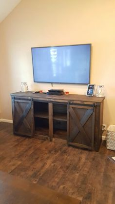 Sliding door entertainment table | Do It Yourself Home Projects from Ana White