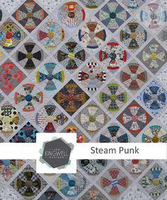 Steam Punk Quilt Pattern by Jen Kingwell by scarletthreadquiltco