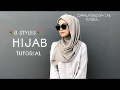 3 STYLES HIJAB SQUARE LATEST TUTORIAL CANTIK & AYU !!⚘⚘ - YouTube Turban Hijab, Hijab Wear, Hijab Outfit, Square Hijab Tutorial, Hijab Style Tutorial, Pashmina Hijab Tutorial, Bridal Hijab, Hijab Bride, Pakistani Wedding Dresses