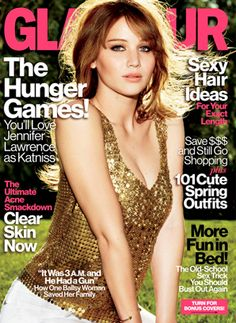 Jennifer Lawrence in Glamour Magazine promoting The Hunger Games.