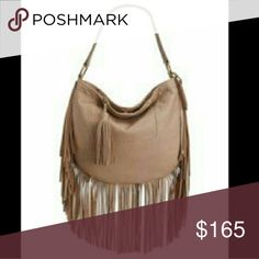 NWT - LUCKY Brand Leather Convertible Fringe Bag From LUCKY BRAND is this buttery supple leather fringe bag. This is a BIG bag! Has a short shoulder strap & a detachable strap which allows this to be worn crossbody. Large enough to fit a laptop. 2 interior slip pockets & a zipped pocket. An additional easily accessible back pocket with oversized tassel zipper pull. BRAND NEW, NEVER WORN WITH ORIGINAL TAGS  I work in L.A as a wardrobe stylist for film & television. All my items are authentic…