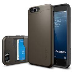 iPhone 6 Case, Spigen Slim Armor CS Case for iPhone 6 (4.7-Inch) - Retail Packaging - Gunmetal (SGP10964)